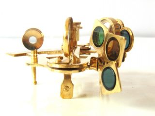 Desk Handmade Shiny Brass Sextant Nautical Collectible Gift Marine Sextant Decor photo