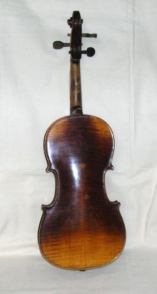 Antique 19th Century 4/4 Violin With Old Case Green photo