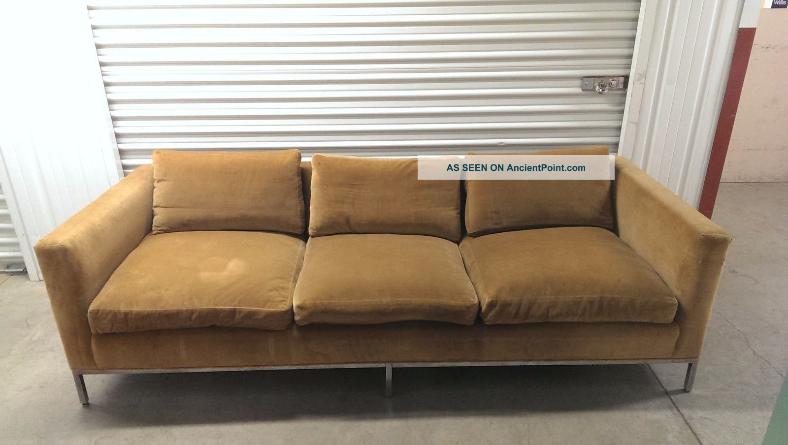 Vintage Mid Century Couch / Sofa And Love Seat - Reupholstering Needed Post-1950 photo