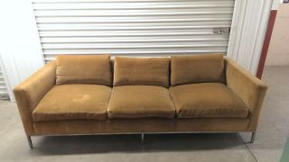 Vintage Mid Century Couch / Sofa And Love Seat - Reupholstering Needed photo