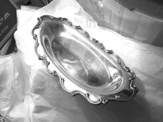 Silverplated Webster - Wilcox Joanne Bread Tray 13 1/4 In.  X 6 1/2 In. photo
