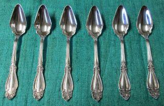 Blenheim 1898 6 Fruit Spoons Ornate Victorian Silverplate Rogers photo
