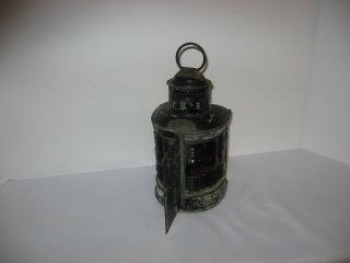 Antique Triplex Maritime Ship ' S Port / Starboard Lantern Light (patented 1913) photo