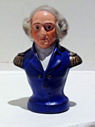 Antique Composition Figure Of George Washington photo