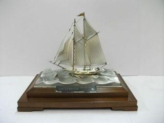 The Sailboat Of Silver960 Of Japan.  2 Masuts.  Takehiko ' S Work. photo
