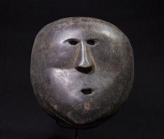 Llarge Atoni Mask Painted In Black - West Timor - Tribal Artifact photo