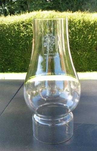 Tram Comet Glass Oil Lamp Chimney / Funnel Griffin Branded - 63mm,  2 1/2