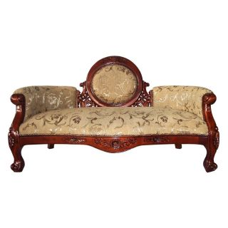Ks1022 Victorian Cameo - Backed Sofa - Hand Carved Replica - photo