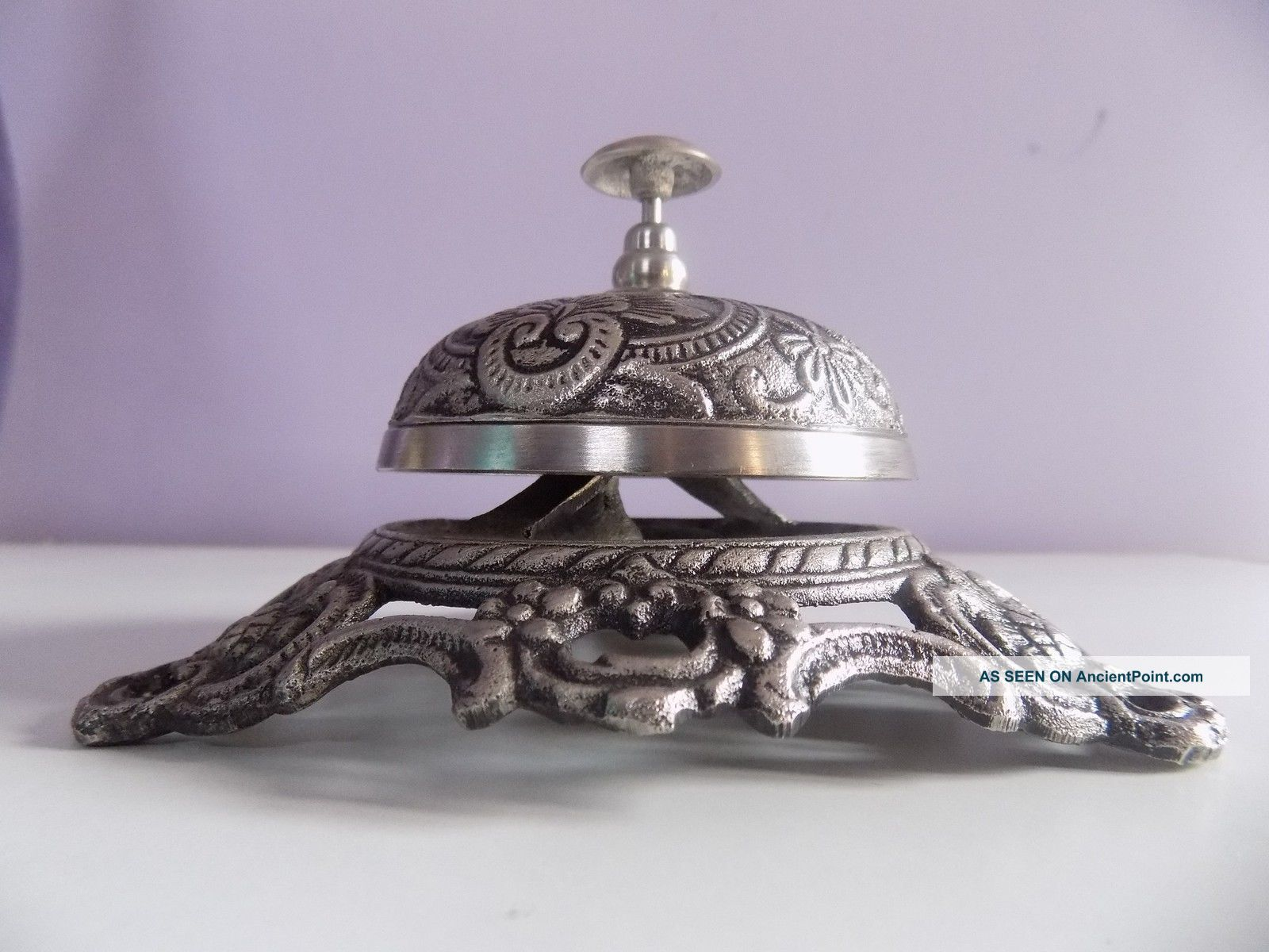 Brass Antique Vintage Style Office Desk Reception Call Bell Decor Service Bells & Whistles photo