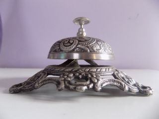 Brass Antique Vintage Style Office Desk Reception Call Bell Decor Service photo
