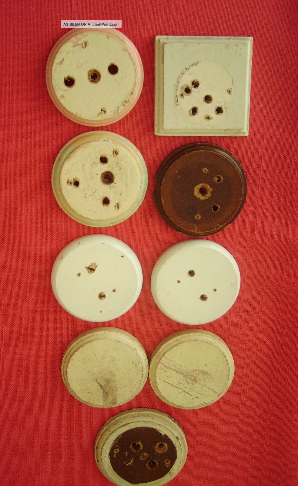 9 Wooden Back Plates For Bakelite Light Switches Patress Plinth Light Switches photo