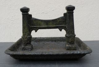 Antique,  Quality,  Late 19th Century Cast Iron Boot Scraper photo