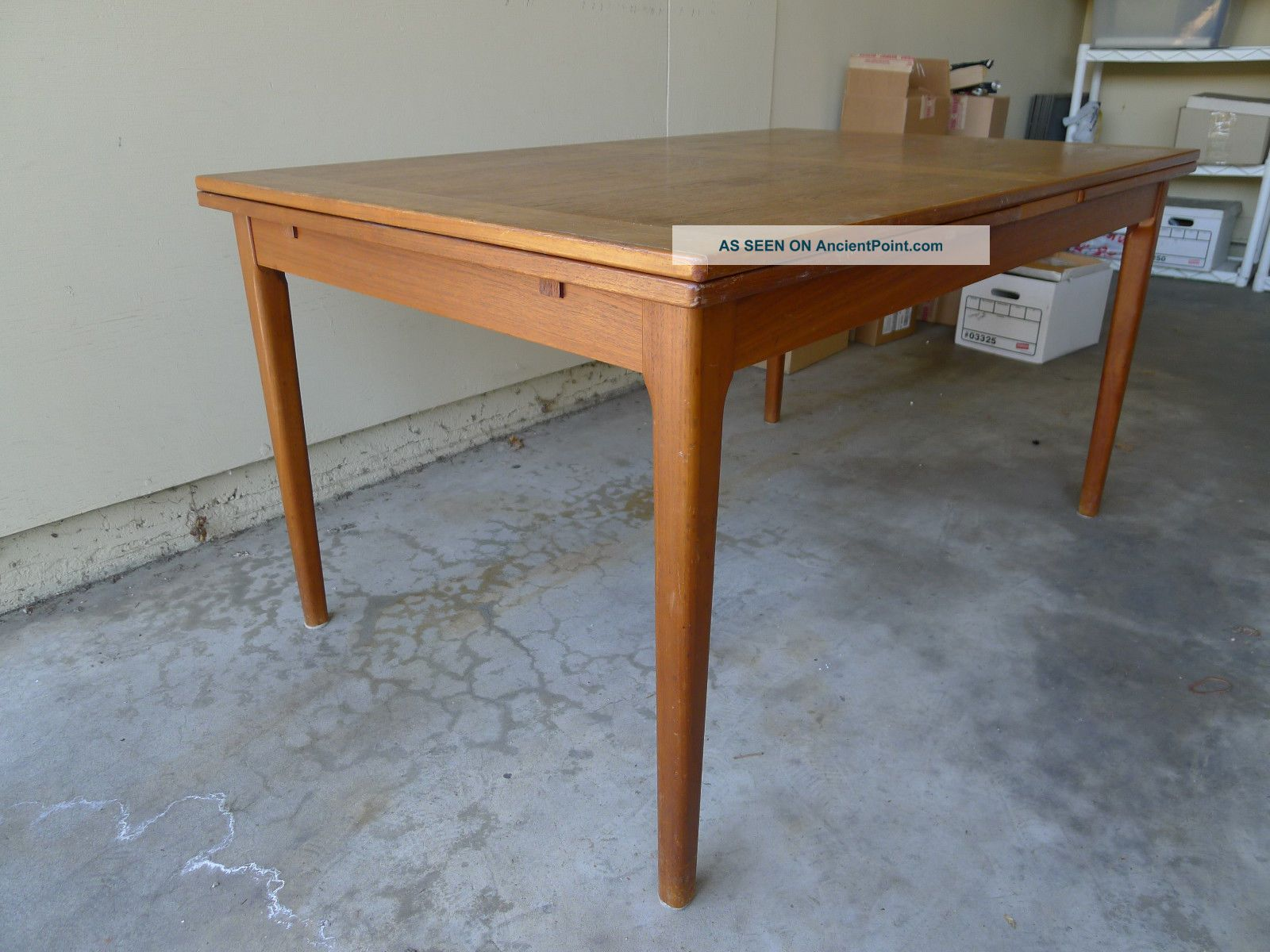 Dining Table With Sliding Extension 1900-1950 photo