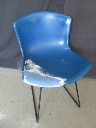 Mid Century Modern Knoll Harry Bertoia Fiberglass Shell Chair & Steel Base photo