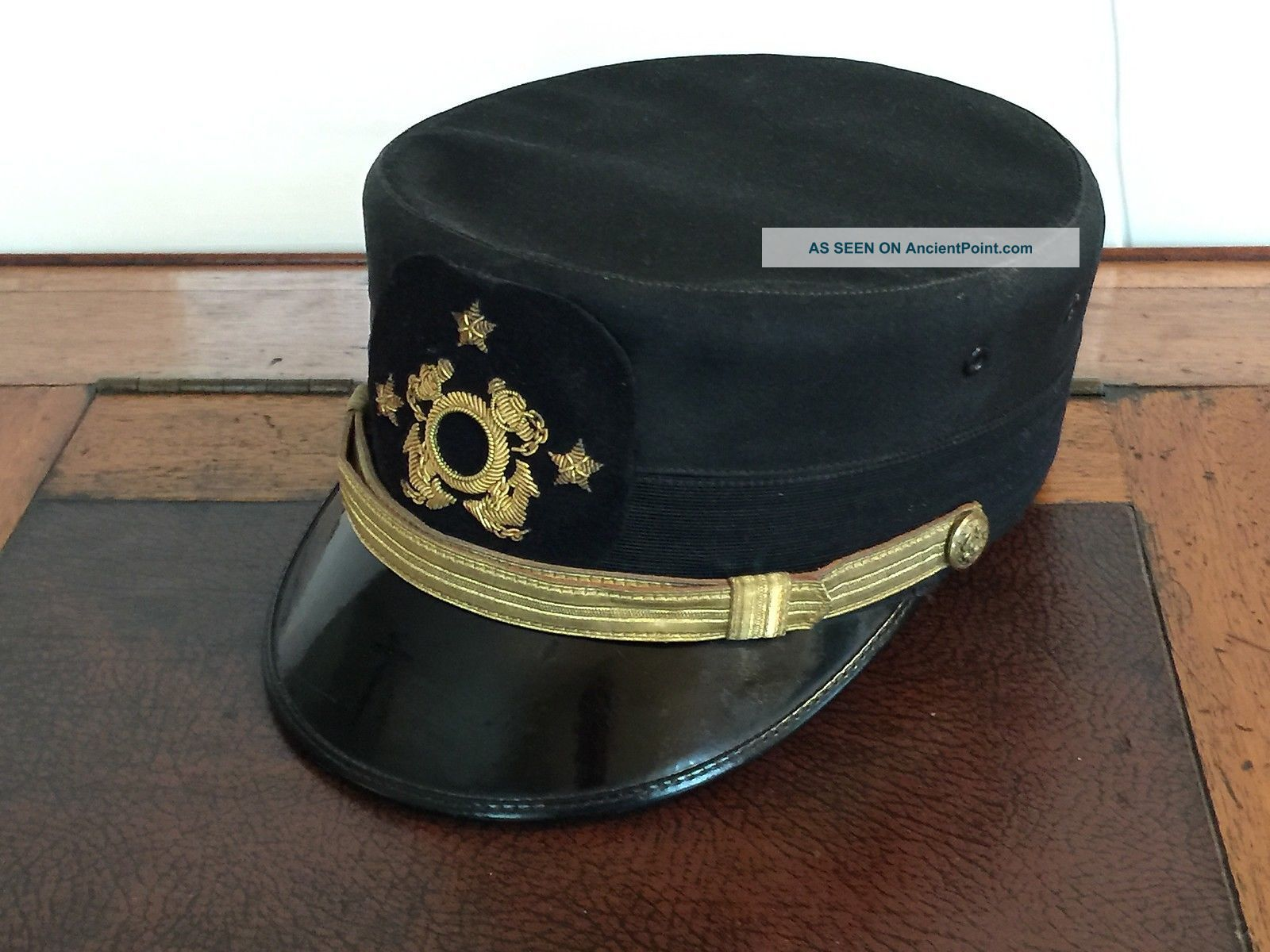 Vintage Commodor Hat With Bullion Hat Badge Other Maritime Antiques photo