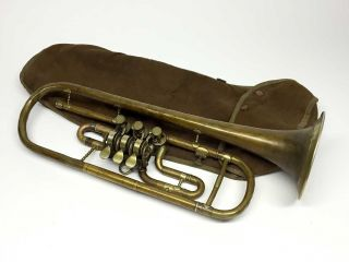 Rotary Valve Trumpet Circa 1900 photo