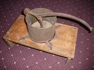 Antique Littlefield Lard Press,  Fruit Apple Cider Cast Iron Vintage Food Tool, photo