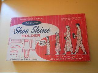 Vintage Lady Josephine Shoe Shine Holder Kit For Shining Women And Men ' S Shoes. photo