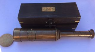 Solid Brass Nautical Collectable Ship Telescope 39 Cm Amat 103) photo