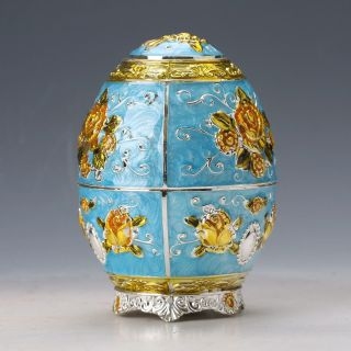 Chinese Exquisite Cloisonne Handwork Orchid Toothpick Box D918 photo