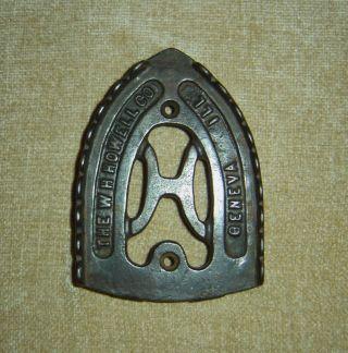 Cast Iron Trivet The W.  H.  Howell Co. ,  Geneva,  Ill photo