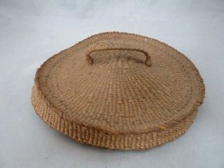 Native American Weave Basket Lid/cover.  Design.  Approx.  6