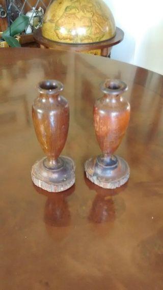 Australian Mulga Wood Vases photo