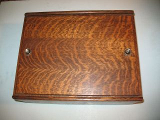 1910s National Cash Register Credit Slip Wooden Box Look photo