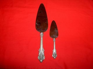 Two Wallace Grand Grande Baroque Sterling Silver 10 1/2