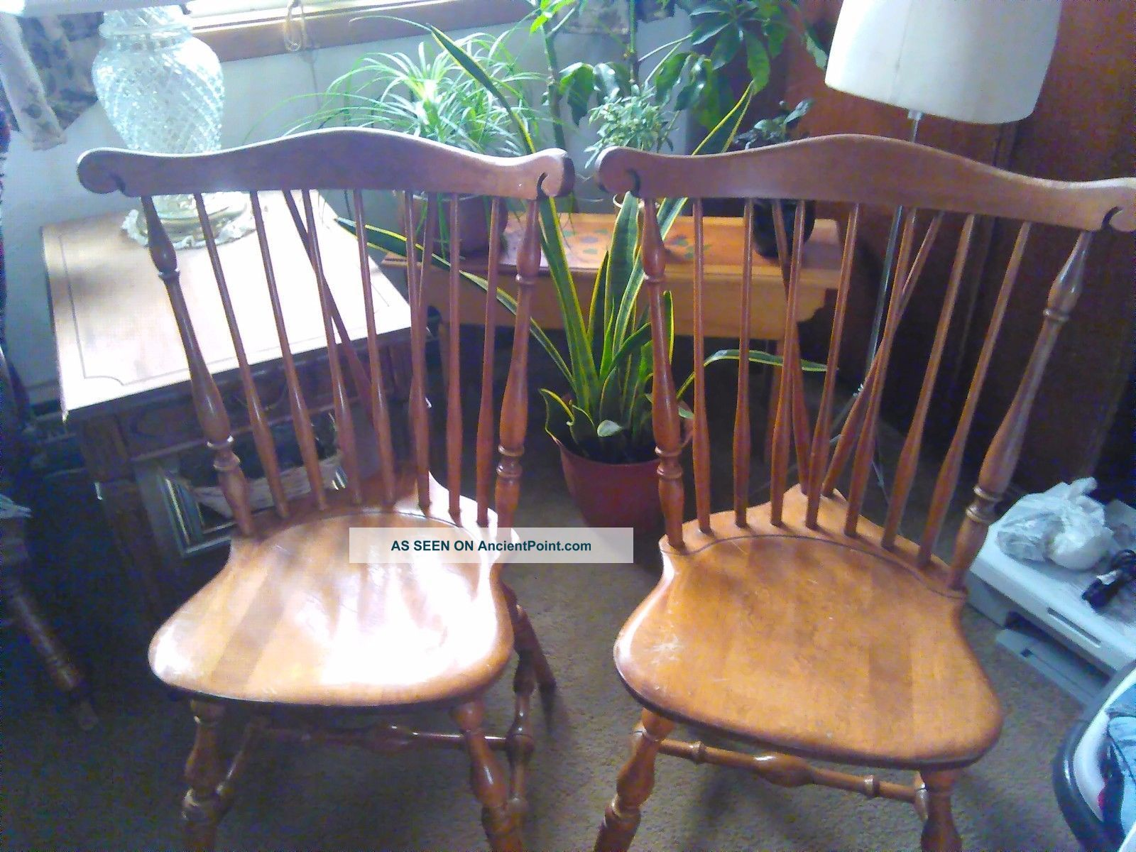 Vintage Duxbury Windsor Duxbury Maple Dining Room Chairs