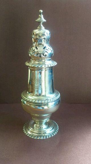 Impressive Heavy Solid Silver Georgian Style Sugar Caster 189.  6 Grams photo