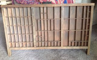Antique Hamilton Printer ' S Typeset Wooden Tray Drawer Or Display Box 33