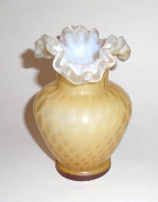Antique Mother - Of - Pearl Satin Glass Vase photo