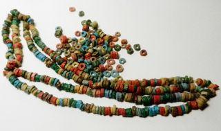 400,  Egyptian Faience 6 Mm Heeshi Mummy Beads - Egypt - Vintage/antique photo