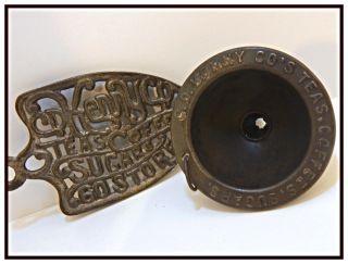 Antique/vintage C.  1920 - 30 Advertising Cd Kenny Co Iron Trivet & Tin Funnel Euc photo