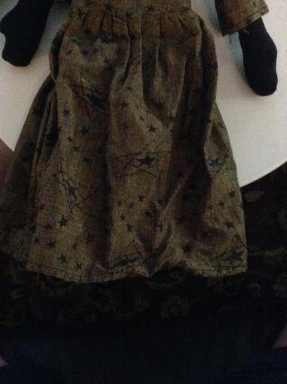 Primitive Rustic Pumpkln Head Doll For Holloween photo