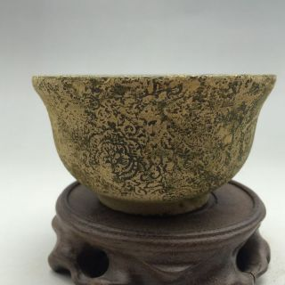 Chinese Antique Jade Emperor Qianlong Years Pure Hand Carved Jade Bowl photo