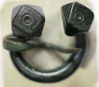 Ancient Viking Bronze Classic Omega Fibula Brooch Men ' S Jewelry photo