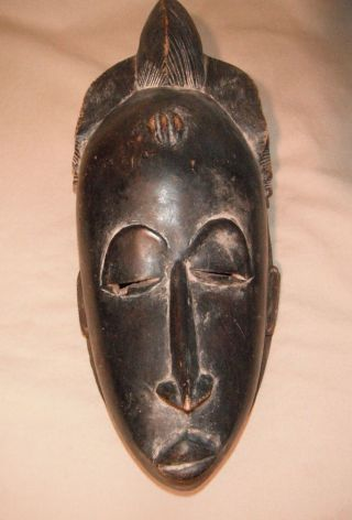 African,  Wooden,  Mask,  Baule Tribe,  Antique photo