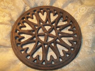 Large Antique Trivet Early Flat (without Legs) 7 1/4
