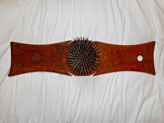 Antique 1800s Primitive American Carding Flax Hetchel Hatchel Comb Vgc photo