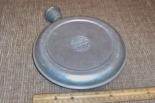 Pat 1908 Aluminum Bed Warmer Hot Water Bottle Primitive Antique Country Kitchen photo