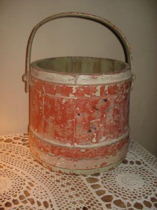 Antique Primitive Shaker Sugar/firkin Bucket photo