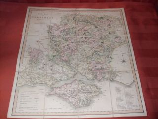 Map Of Hampshire,  London,  Printed For C.  Smith 1821 photo