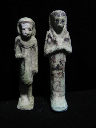 Zurqieh - Two Ancient Egyptian Faience Overseer