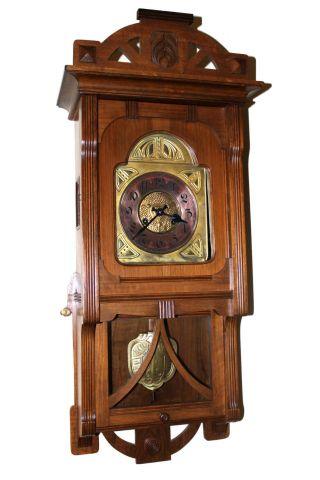 Gorgeous Germany Gustav Becker Half Strike Antique Wall Clock Circa 1900 photo