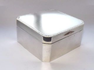 Vintage Art Deco Hm Solid Silver Sterling & Gold Cigarette Cigar Box B/ham 1929 photo