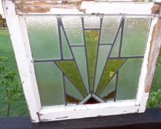 15210/ Antique Victorian Church Stained Glass Window 1880 Architectural Salvage photo