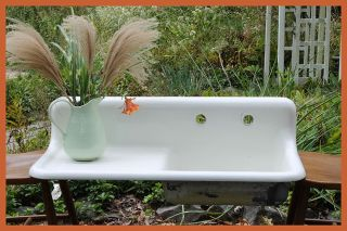 1926 Antique Vintage Farmhouse Farm Sink With Drainboard (42 Inch) photo