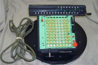 Vintage 1940s Monroe Las160 High Speed Mechanical Calculating Machine 4640 photo